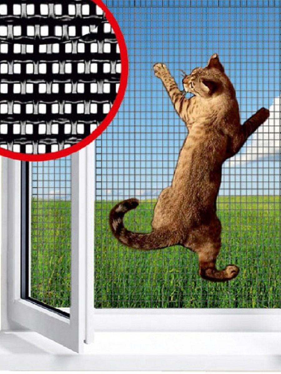 Набор для ремонта оконной и дверной москитной сетки (антикошка). Защита домашних питомцев.