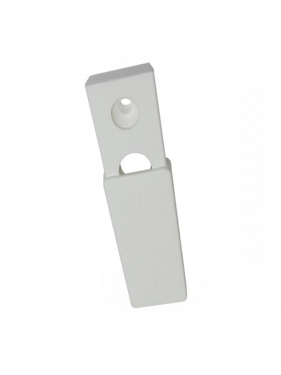 Розетка-заглушка оконной ручки, сдвижная (белая)