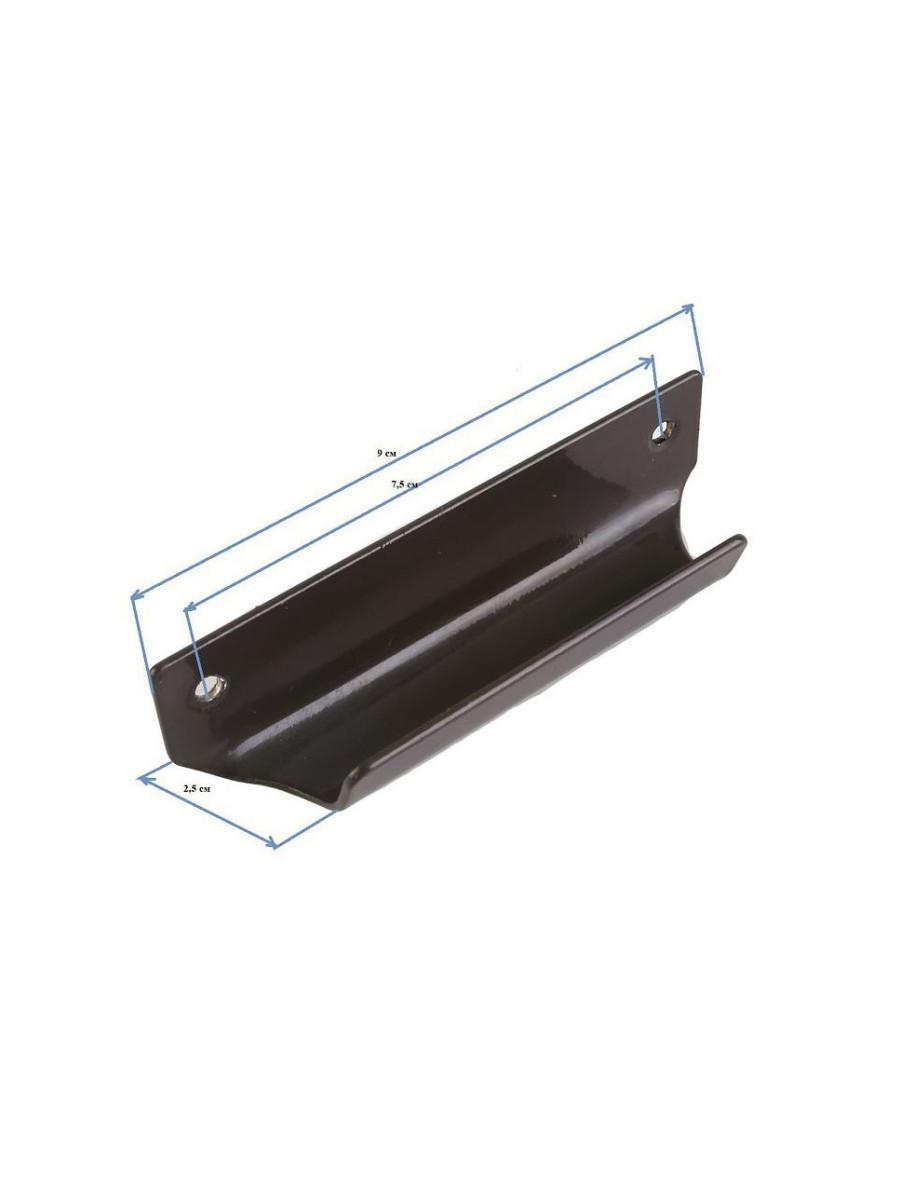 Ручка балконная МЕТАЛЛ-сталь КОРИЧНЕВАЯ, Ручка дверная МЕТАЛЛ-сталь