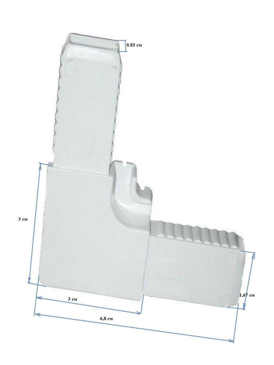 Набор уголки ABS, крепления ABS, ручки силикон для москитных сеток на окна и двери + 8 саморезов с буром