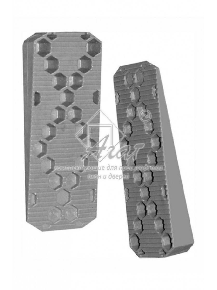 Клин монтажный для деревянных, металлических, пластиковых под уровень 14*40 мм (6 шт)