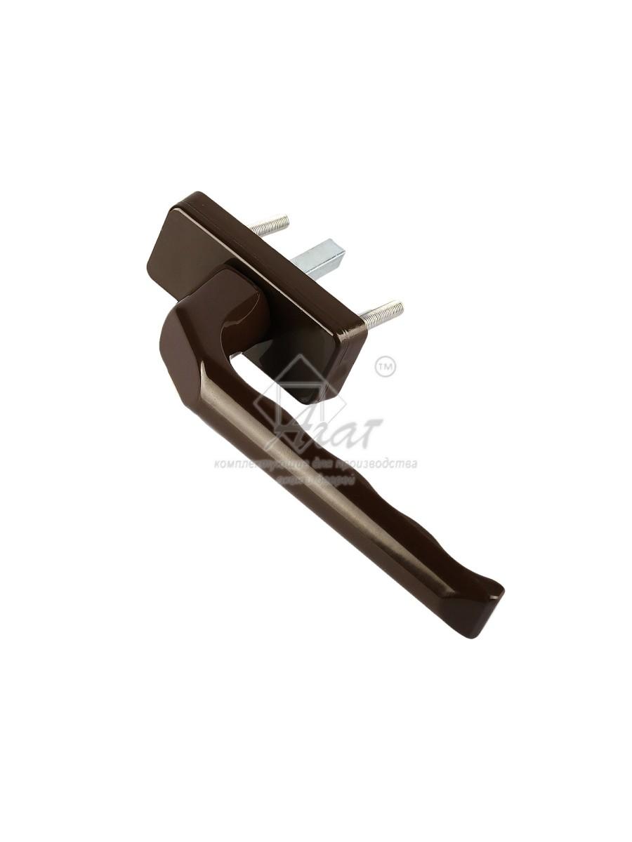 Ручка оконная коричневая металл, ручка на окно
